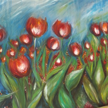 After the rain - Tulips